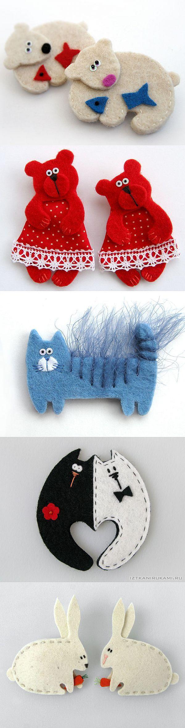 Красивые игрушки из фетра. | фетр | Постила