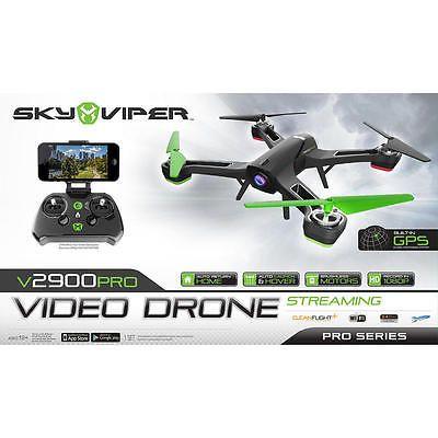 New Sky Viper v2900PRO Remote Control Streaming Video Dron – 2.4 GHz Green/Black