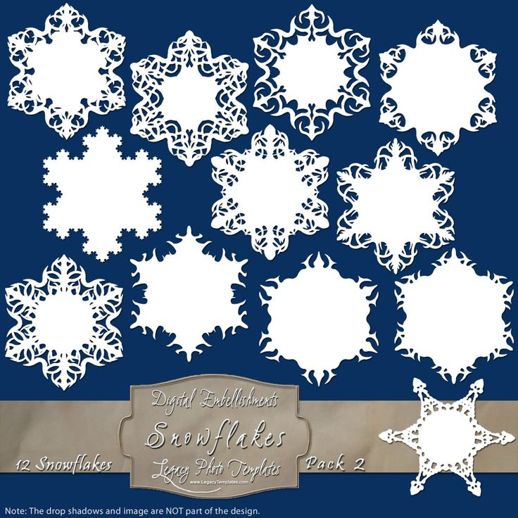 12 Frosty Snowflake Labels - Pack 2 $4.75 #snowflakes, #white, #labels, #winter, #embellishment, #scrapbooking