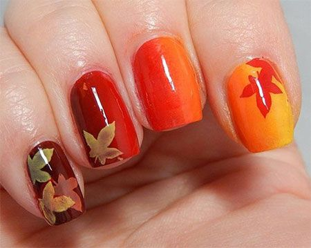 24 best easy autumn nail art designs images on pinterest autumn easy autumn nail art designs prinsesfo Images