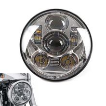 "Chrome 5.75 ""5-3/4 dans. Daymaker Projecteur LED Phare Pour Harley Softail Springer Classique FLSTSC EFI FLSTSCI FXST FXSTD(China (Mainland))"
