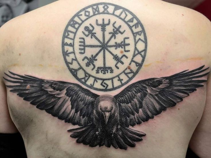 Nordic circle and raven. I think it would look cleaner without the raven though.