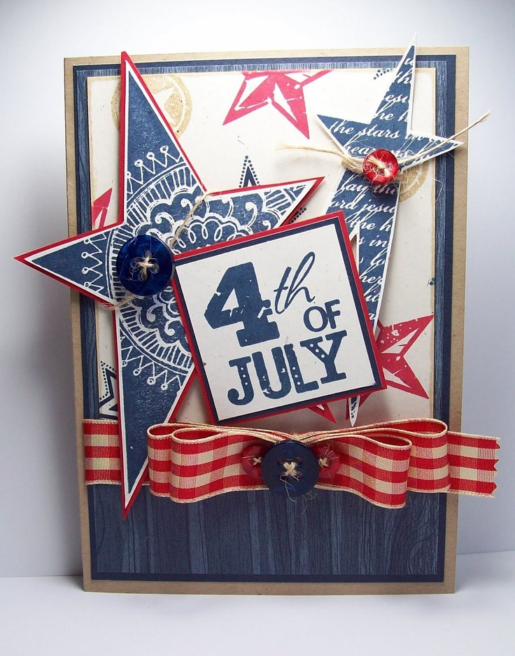 Wonderful 4th Of July Card Making Ideas Part - 11: 4th Of July Card -- Using Shining Star Stamp Set