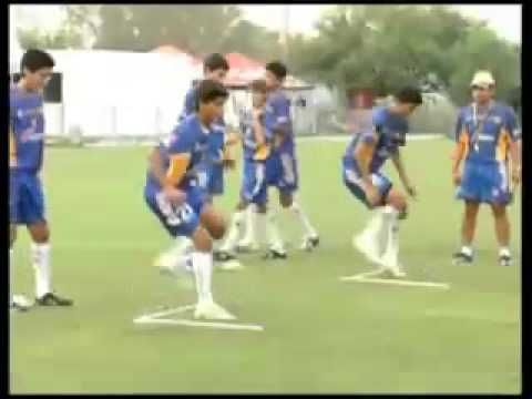 Speed and Footwork Coordination for Junior and Youth Soccer Players - YouTube