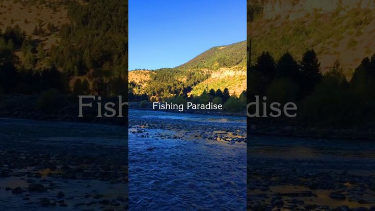 A Fall, blue morning on the Yellowstone River in Paradise Valley, Montana