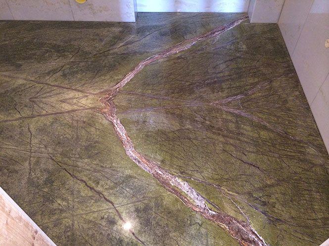 pavimento bagno marmo macchia aperta - bathroom marble floor open book ...