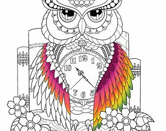 Página de buho para colorear para adultos, buho adulto colorear, libro para colorear del buho, buho para imprimir, hoja para colorear de buho, buho para colorear páginas