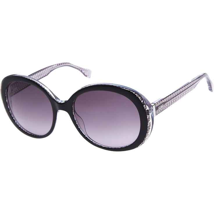 """Fendi"" Black Round Sunglasses - TK Maxx"