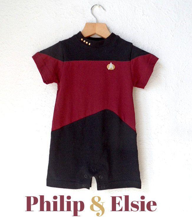 90's Star Trek Next Generation Romper Suit 18 by PhilipandElsie, £20.00