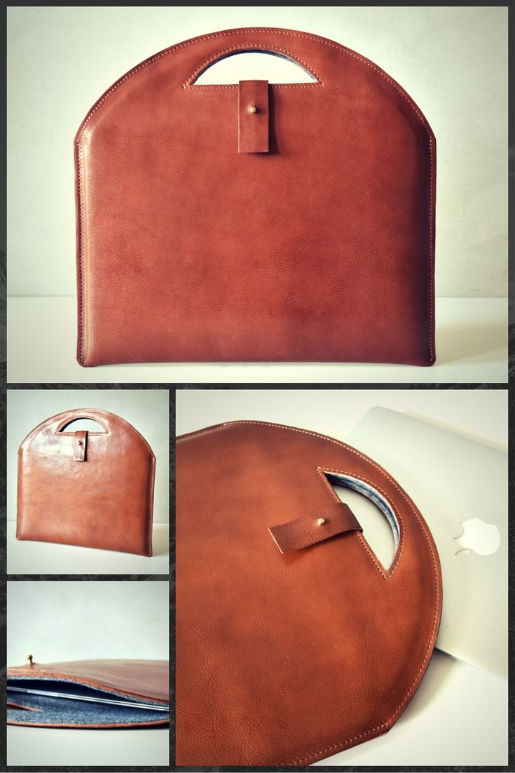 Leather MacBook sleeve #leather #case