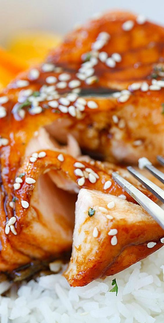 Salmon with Orange Teriyaki Glaze