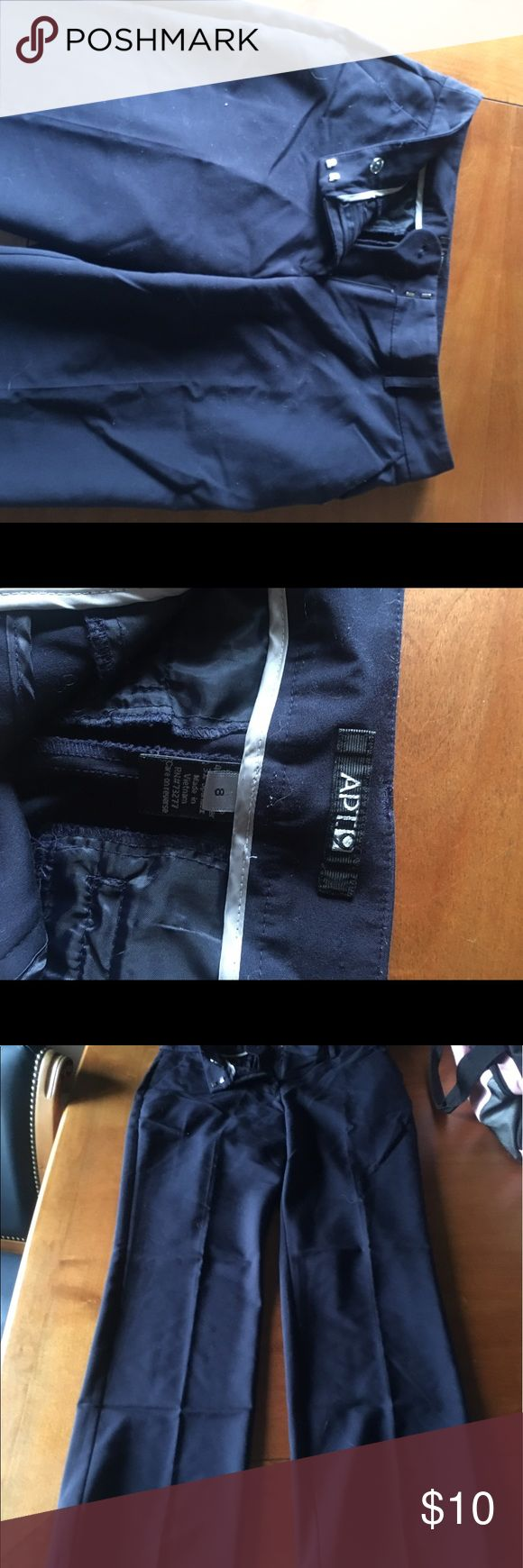 Navy Blue Dress pants Super comfy, worn to one worn conference Apt. 9 Pants Trousers