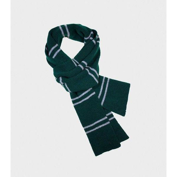 Slytherin Scarf ($45) ❤ liked on Polyvore featuring accessories, scarves, green shawl, silver shawl, silver scarves and green scarves