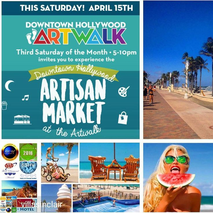 Credit to @villasinclair : Artisan Market Saturday April 15th 2017 Hollywood Downtown 5-10pm Sponsored by Villa Sinclair See U There!💋💋💋💋💋❤️❤️❤️❤️❤️🌅🌅🌅🌅🌅👍👍👍👍👍💎💎💎💎💎 You Wish You were here is Just a Phone Call or A Click Away 1-954-450-0000 www.Villa-Sinclair.com 💋💋💋💋💋💋❤️❤️❤️❤️❤️💗💗💗 Hollywood Beach Florida USA Like Nowhere Else.... ☀️☀️☀️☀️☀️☀️☀️☀️☀️☀️☀️☀️☀️😍😍😍😍😍😍😍😍😍😍😍😍😍❤️❤️❤️❤️❤️❤️❤️❤️❤️❤️❤️❤️❤️🌅🌅🌅🌅🌅🌅🌅🌅🌅🌅🌅🌅🌅🔥🔥🔥🔥🔥🔥🔥🔥🔥🔥🔥🔥🔥…