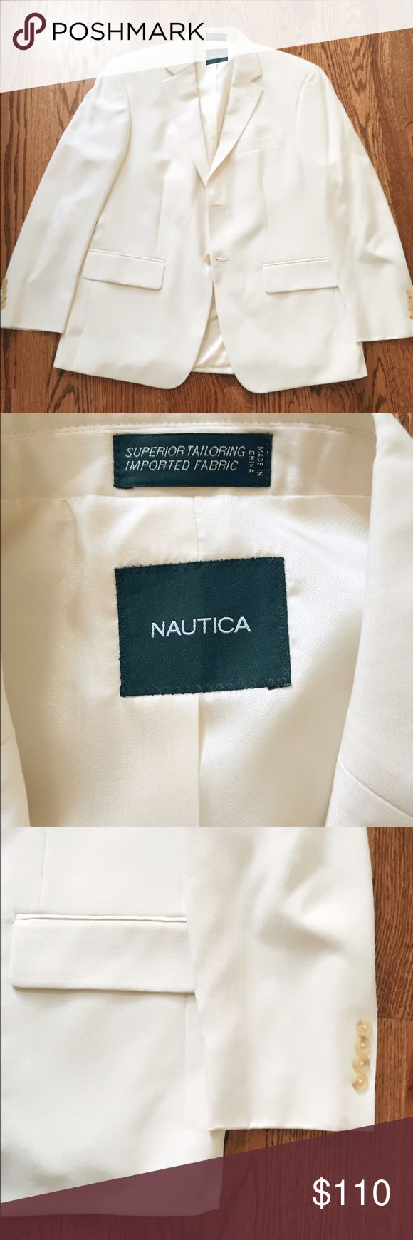 Nautica Silk Blazer Sport Coat NWOT In perfect, NWOT condition. Never worn, no stains, no rips, no imperfections. Selling for a friend who bought this for her husband and he never wore it.                                          🏡 smoke and pet free home 🏡 Nautica Suits & Blazers Sport Coats & Blazers