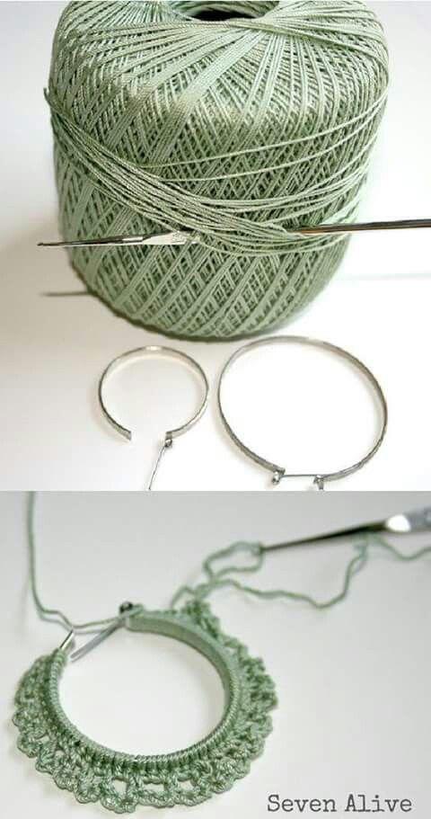 Crochet book earrings