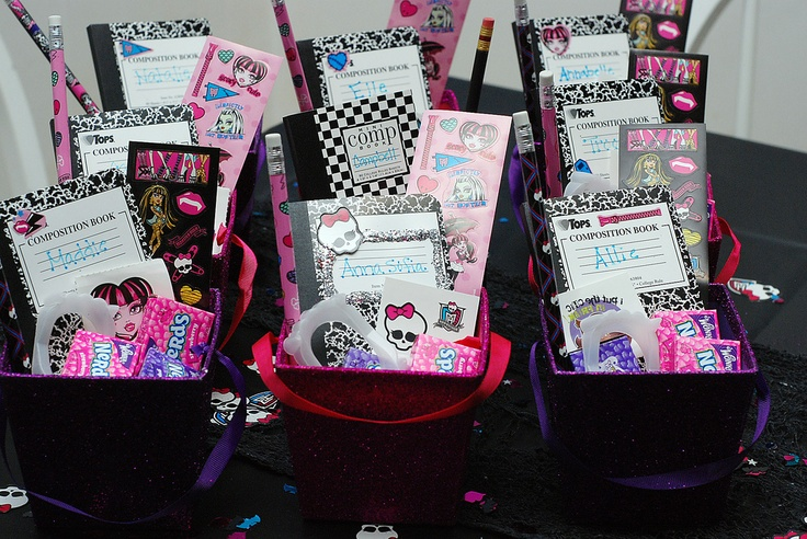 Monster High Birthday Party Favor Boxes