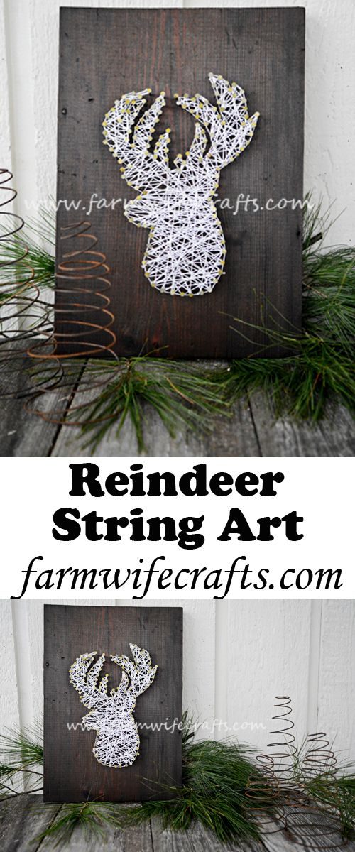 Add some simplicity to your holiday decor with this Reindeer String Art. String art is simple and so fun!