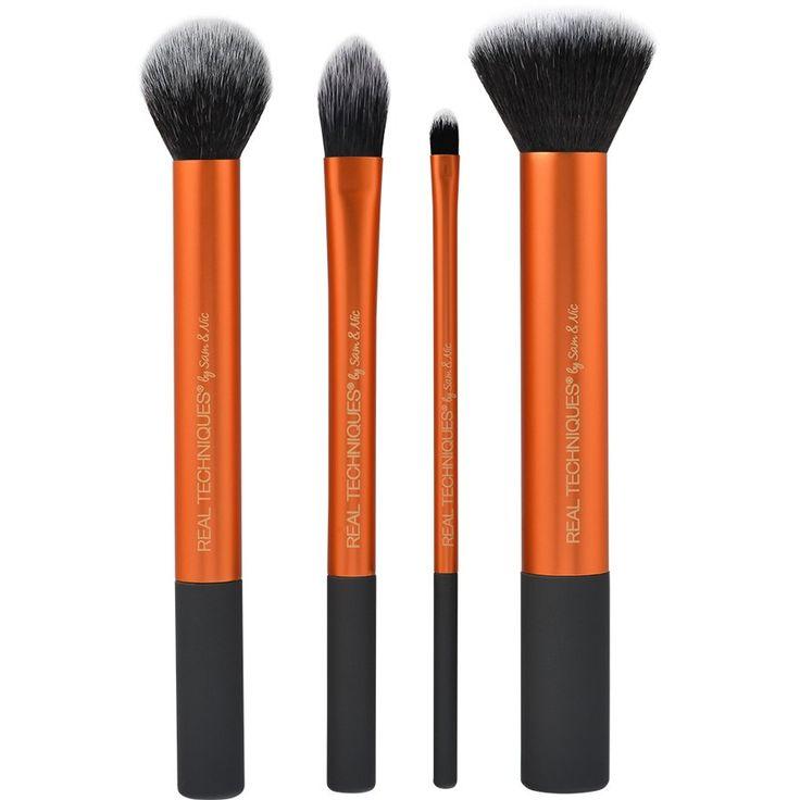 Et komplet basis sæt af fire børster. Derudover får du en praktisk mappe til børsterne.