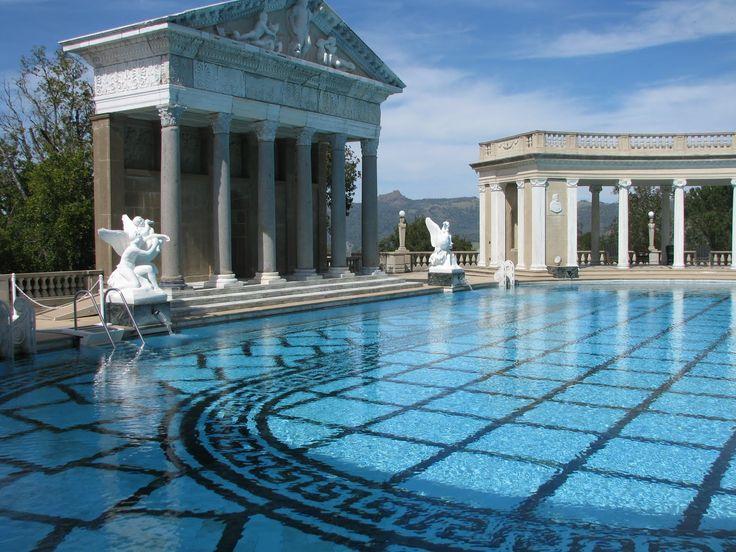 Greek Backyard Designs i like the covered walkway around a courtyard feeling pool it reminds me Swimming Pool