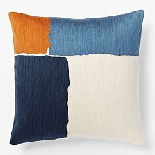 Think about the texture, simplicity and painterly aspects. Steven Alan designer. Pillows, Bed Throws & Decorative Pillows For Bed | west elm