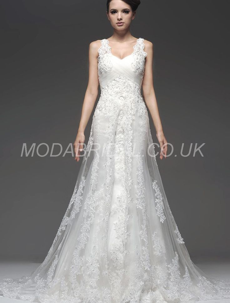 Modabridalcouk SUPPLIES Fashionable Trumpet Mermaid All Sizes Floor Length Straps Wedding DressesCheap Dresses
