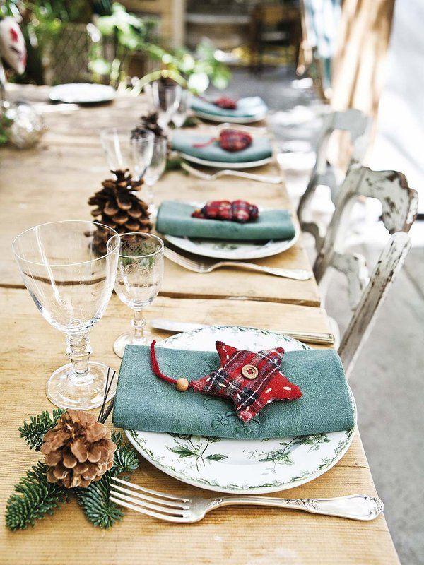 Preparando la #Navidad #mesa #adornos: