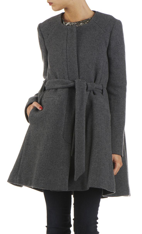 manteau vas en laine gris by ba sh