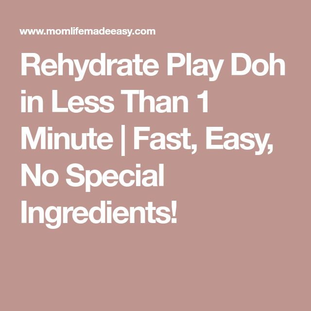 Rehydrate Play Doh in Less Than 1 Minute | Fast, Easy, No Special Ingredients!
