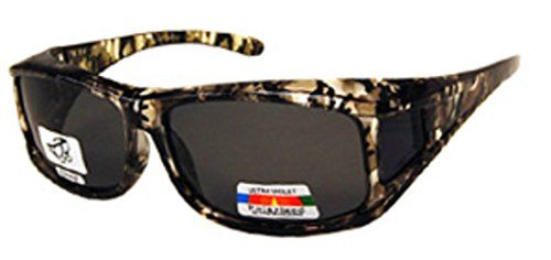 Unisex Camouflage Sun Shield Fit Over Sunglasses Polarized  Wear Over Prescription Glasses  Cover Over Glasses  Size Medium in Light Green Camo Microfiber Pouch Included ** You can get more details by clicking on the image.Note:It is affiliate link to Amazon.