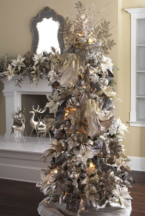 Delightful Christmas ~ Angel Tree Silver And Gold.