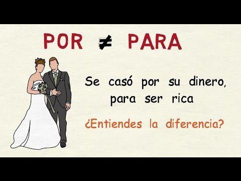 Aprender español: Por y para (nivel intermedio) - YouTube