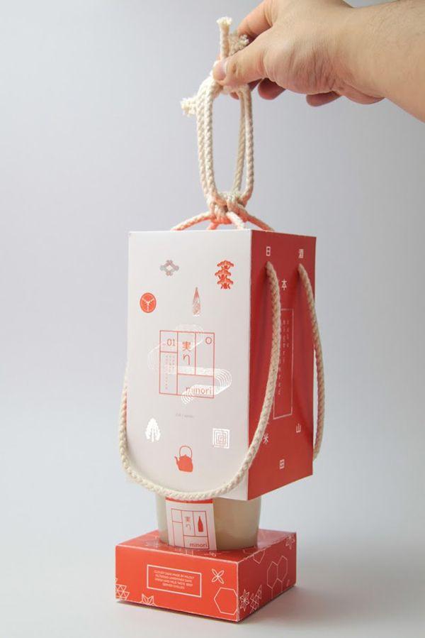 Japanese Minori Sake packaging designjapan
