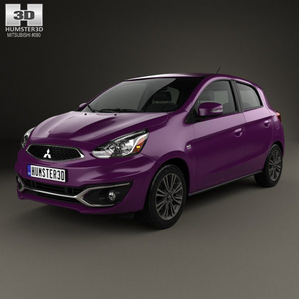 Mitsubishi Mirage GT 2017 3d model from Humster3D.com.