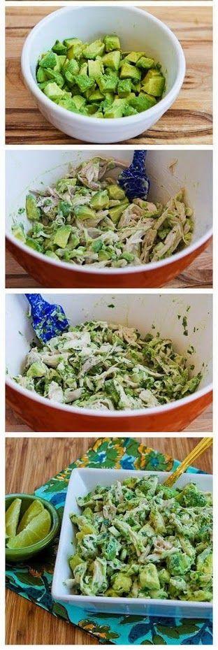 Salpicon de pollo, aguacate, zumo de lima y cilantro. Muy fácil de hacer, saludable e ideal para una dieta equilibrada.Google+