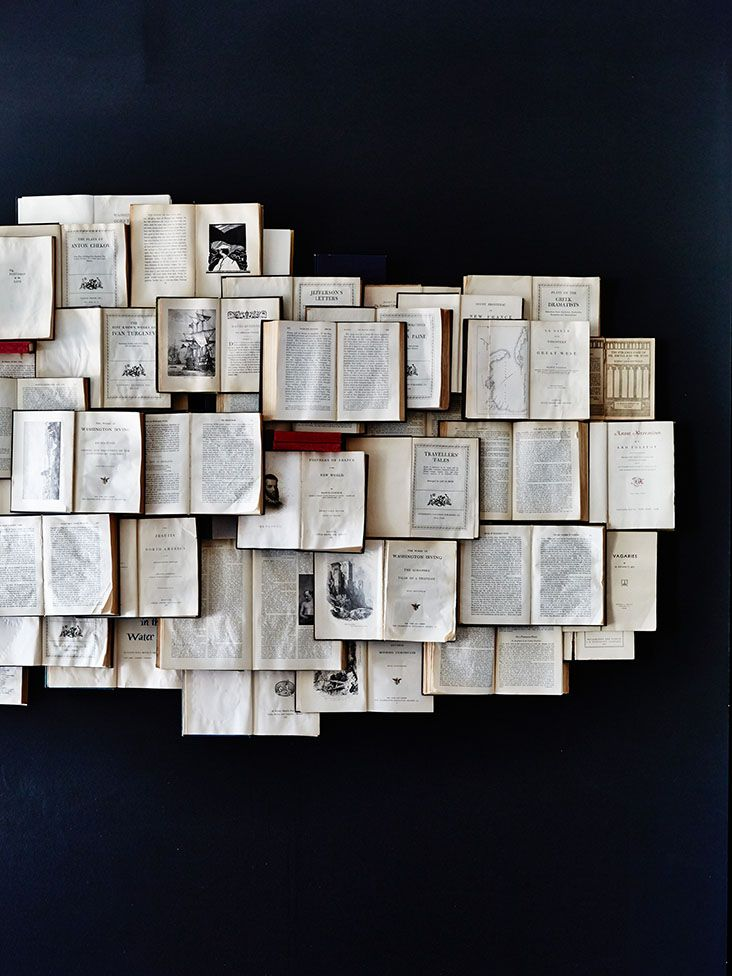 Bookwall. (I feel like I could only feel okay about doing this with ruined books.)