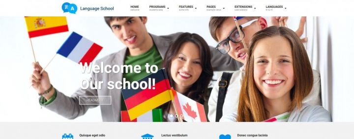 JM Education - a stunning education Joomla template suitable for schools, universities, colleges, languages schools or kindergartens website projects. #Joomla #responsive #education #school #template