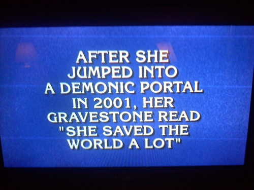 Who is Buffy the vampire slayer?