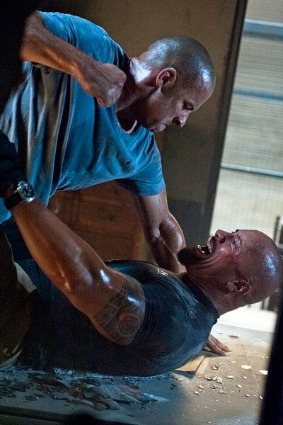 fast 5 | Fast Five': Vin Diesel And Dwayne Johnson Get Fast And Furious In ...  When Dom attack nobody hold!!!