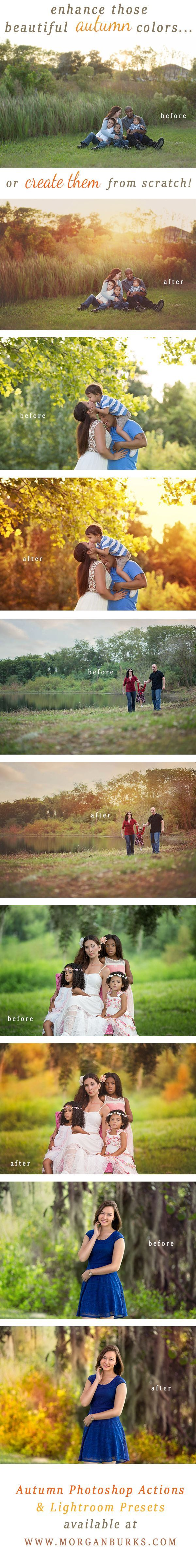Gorgeous Autumn Photoshop Actions & Lightroom Presets! | Find a tutorial and a free sample at www.morganburks.com