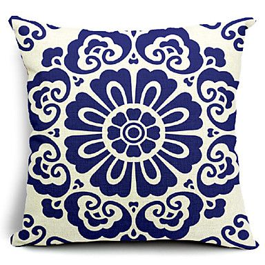 Floral Blooming Cotton/Linen Decorative Pillow Cover – AUD $ 21.44