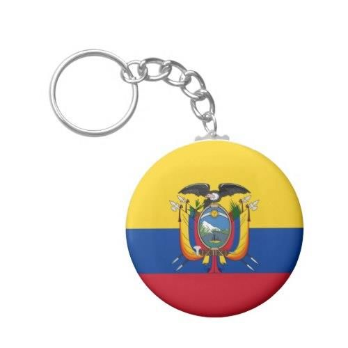 Flag of Ecuador Basic Round Button Keychain http://www.zazzle.com/flag_of_ecuador_basic_round_button_keychain-146646036015355665?rf=238756979555966366&tc=PtMPrssLaEcuador Flag of Ecuador - La Tricolor