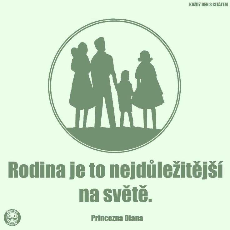 citáty - Rodina je to nejdůležitější na světě