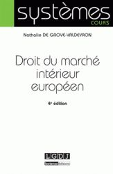 Droit du marché intérieur européen 4e édition