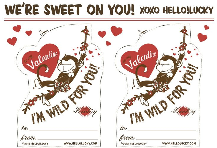 Hello Lucky! printable valentines - this might be my new favorite thing - free from Hello Lucky!