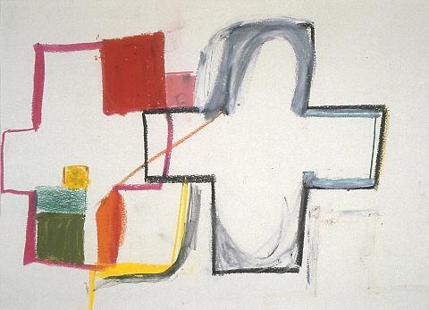 Julian Dashper - Study Drawing For 'Cass Altarpiece' - Chartwell Collection of contemporary art
