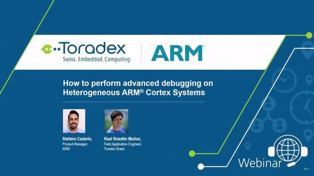 In this webinar video, we will show you how ARM DS-MDK simplifies software development on heterogeneous devices by enabling in a single environment, a Cortex-M bare-metal debug, Linux kernel debug, and Linux application debug on Cortex-A. You will experience how OpenAMP libraries are used for inter-processors communication and how ARM DS-MDK makes the integration in your application very easy. We are using a Colibri with the NXP® i.MX 7 which features dual core Cortex-A7 and a Cortex-M4 CPU…