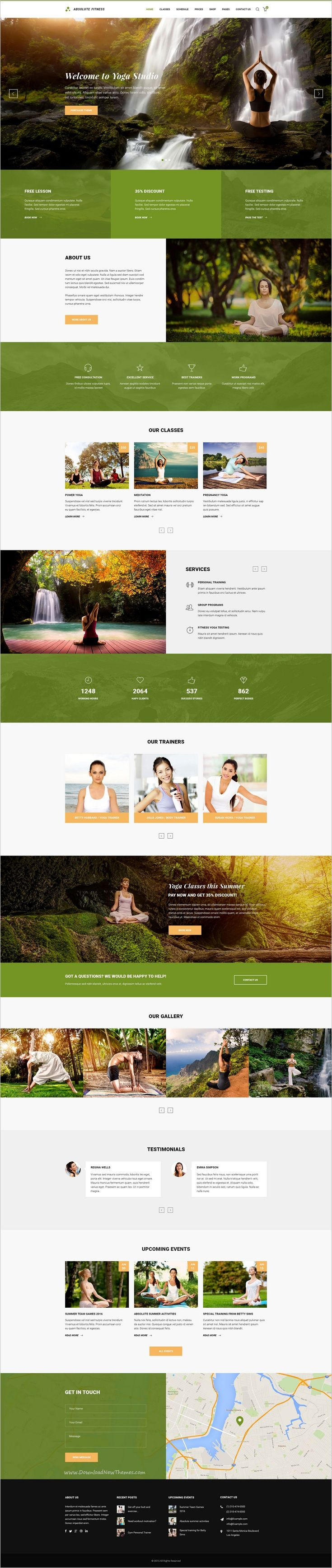 Best 25 personal trainer website ideas on pinterest best web absolute fitness psd template 1betcityfo Images