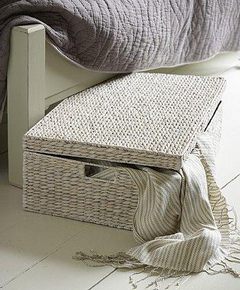 White Underbed Storage Basket