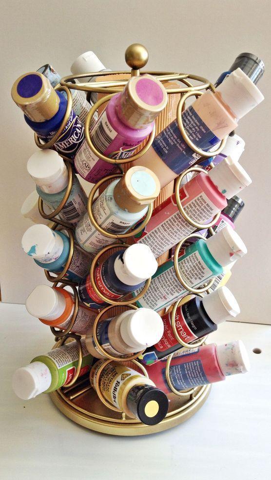 Keurig Cup Carousel Repurposed. Art Supplies Storage. :: Hometalk - great re-purpose, I'm thinking scissors, stickles, markers
